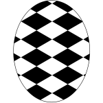 Black and white egg