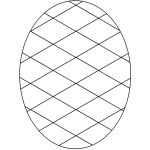 Outlined egg
