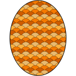 Egg with pattern