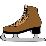 Vector graphics of skating boot
