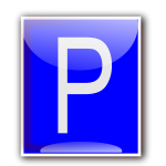 Vector clip art of parking area sign