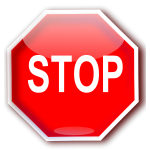 Red STOP sign graphics vector image