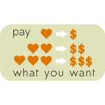 Pay What You Want Sticker Vector