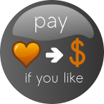 Pay If you Like Button Vector