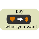 Pay What You Want Button Vector