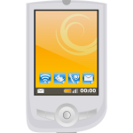 Modern PDA with apps vector image