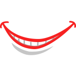 Smile lips vector image
