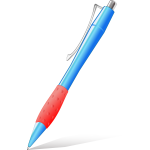 Vector drawing of simple plastic pen