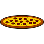 Pepperoni pizza illustration