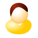 Yellow user avatar vector graphics