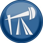 Vector image of petroleum rig icon