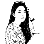 Woman monochrome art