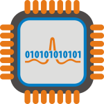 Analog to digital processor vector image