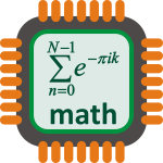 Maths processor vector image