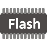 Flash memory vector image