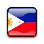 Philippines vector flag button