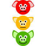 Pig traffic lights