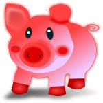 Red piglet vector illustration
