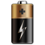 Clip art of brown and black battery