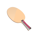 A table tennis racket vector clip rt