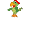 Vector illustration of singing pirate parrot