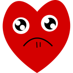 Red heart wants your sympathy vector drawing