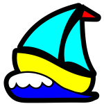 Simple boat vector image