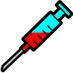 Syringe icon vector