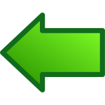 Green arrow pointing left vector image