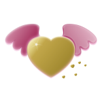 Heart with wings vector clip art