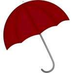 Dark red umbrella vector clip art