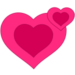 Two pink hearts vector image