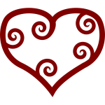 Valentine Red Maori heart vector clip art
