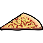 Capricciosa pizza vector clip art