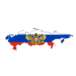 Russian flag map clip art