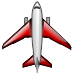 Red airplane vector