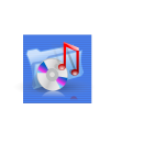 Blue background music file link computer icon vector drawing