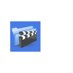Blue background multimedia file link computer icon vector image