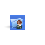 Image of blue user folder icon
