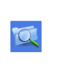 Blue background search option computer icon vector graphics