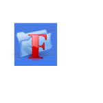 Blue background function folder computer icon vector image