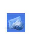 Blue background web e-mail computer icon vector graphics