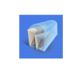 Blue background mail box computer icon vector image