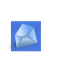 Blue background mail computer icon vector clip art