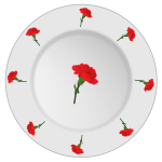Carnation pattern plate vector clip art