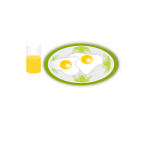 Vector image of breakfast