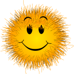 Fluffy smiley vector illustration