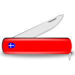 Red pocket knife