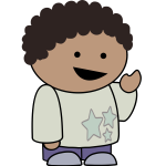 Pointing boy animated image