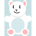 Vector image of cartoon polar bear